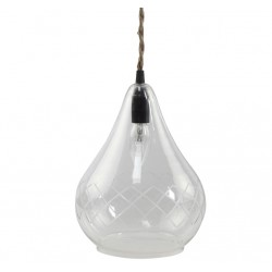 Szklana Lampa Chic Antique Romby