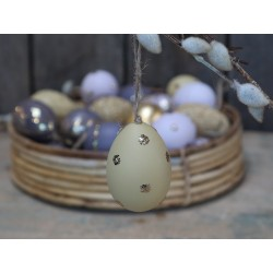 Egg (S19) with gold mica dots