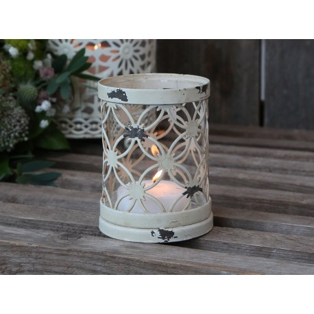 Tealight holder (S19) with lace edge