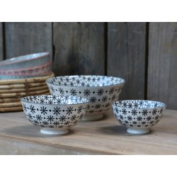 Old french latte Bowl (S19) pattern s/3
