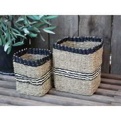 Baskets (S19) with stripes set of 2