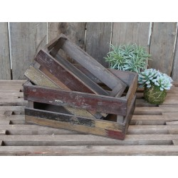 Old french apple Box (S19) set of 2