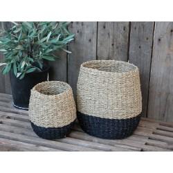 Baskets (S19) black bottom set of 2