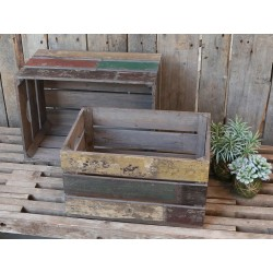 Old french apple Box (S19) set of 3