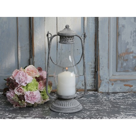 French stable lamp antique zinc