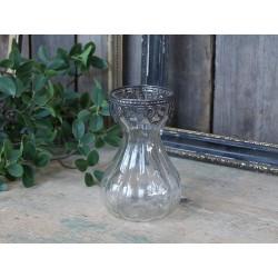 Hyacinthvase w. silver decor