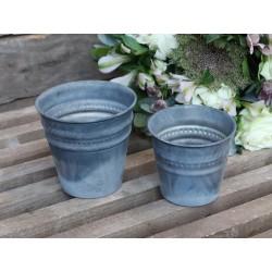 Flowerpot w. pearledge set of 2