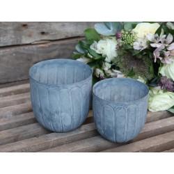 Flowerpot w. pattern set of 2