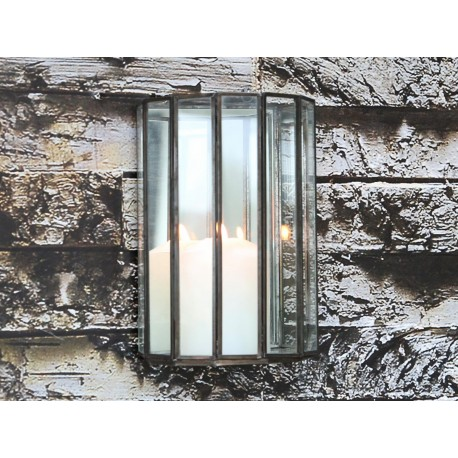 Lantern for wall w.mirror 14x10x20 cm