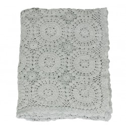 Crochet Plaid (S17) verte 100% cotton