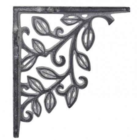 Shelfbracket w. flower decor
