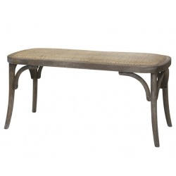 French bench w. rattanseat