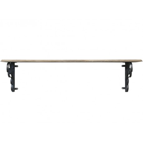 Wooden shelf w. shelfbrackets