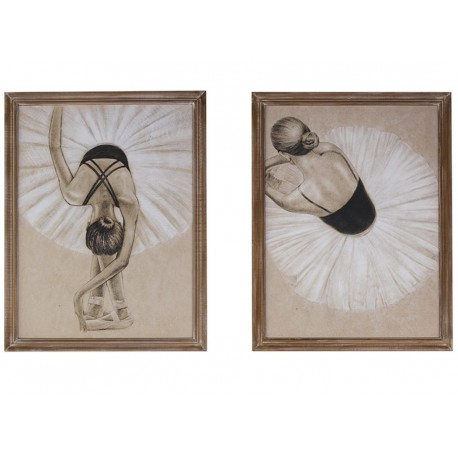 Pictures with ballerina set of 2