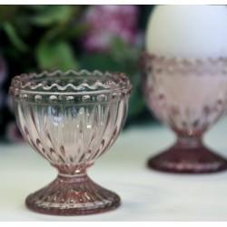 Kieliszki Do Jajek Szklane Różowe