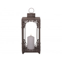 Lantern french grey H39 cm