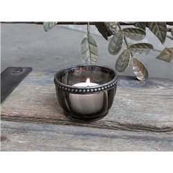 Tealight holder w. pearl edge