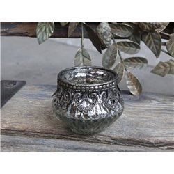Tealight holder w. decor edge