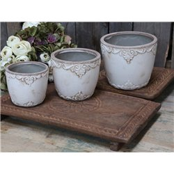 Marcy Flower Pot w. french decor