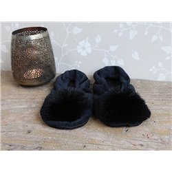 Slippers w. pompon