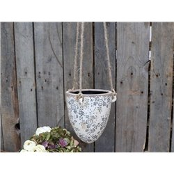 Melun hanging FlowerPot w french pattern