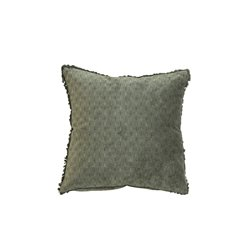 Moulin Cushion velour w pattern & fringe