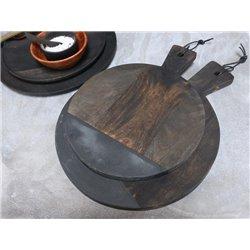 Laon Tapas board stone plate mango wood