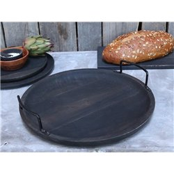 Laon Tapas tray w. iron handle