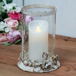 Szklany Lampion Chic Antique Róża