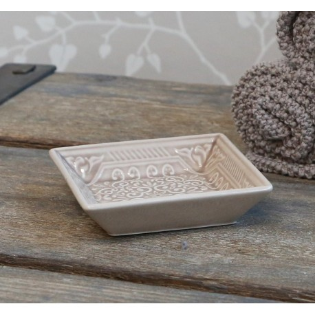 Soap dish w. pattern
