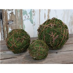 Fleur (X19) Moss Ball w. twigs