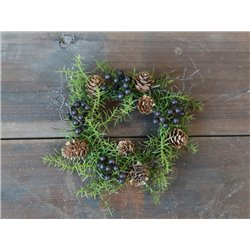 Fleur wreath (X19) w. berries and cones