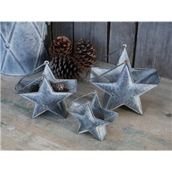 Star Baskets (X19) w. handle set of 3