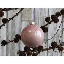 Bauble (X19) w. glitter dots