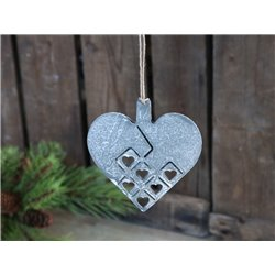 Christmas heart (X19) w. suspension