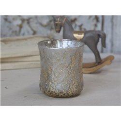 Tealightholder (X19) w. gold glitter