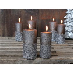 Rustic Pillar Candles (X19) w. glitter