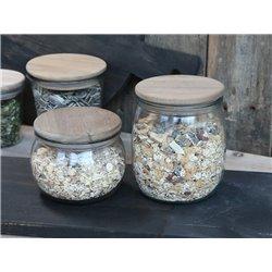 Vallet Storage jar (S20) w. wooden lid