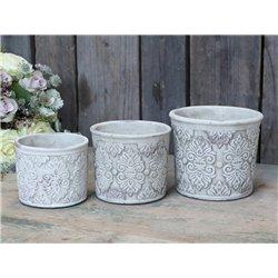 Flower pot w. pattern