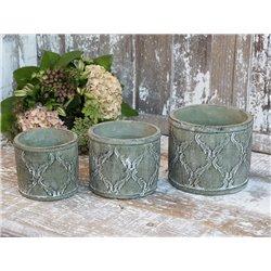 Flower pot (S20)  w. french pattern