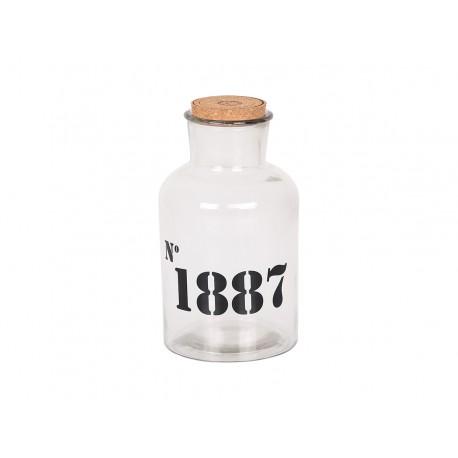 Old bottle w.print No.1887 17x30 cm