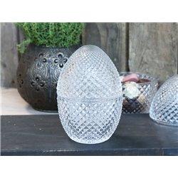 Glass Egg (S20) w. lid