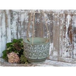 Hanging flower pot (S20) w. pattern