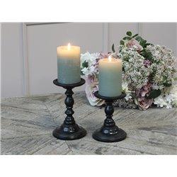 Candlestick for dinner & pillar candles