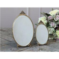 Mirror w. decor oval