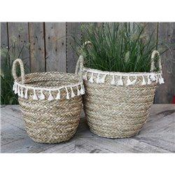 Baskets (S20) w. fringes set of 2