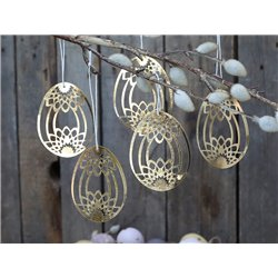 Papercutting Egg (S20) w flower set of 5