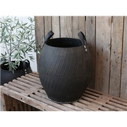 Basket (S19) of recycled rubber w handle