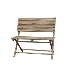 Lyon Bench (S19) bamboo with backrest