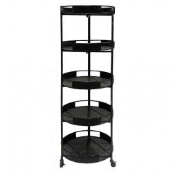 Shelf on wheels w. 5 shelves